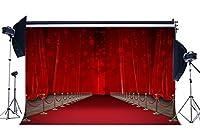 gladbuyビニール10x 8ft豪華なステージBackdrop内部Hollywood Backdrops Bokeh Glitter Sequins FancyカーテンレッドカーペットPhotography Loverウェディングセレモニー用の背景写真スタジオ小道具kx479