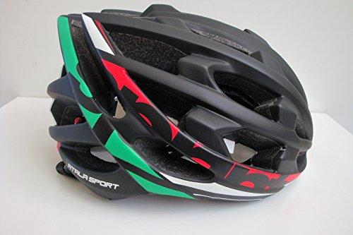 Atala Casco Bici Sport MOD. Sprint Italia col. Nero Tricolore Tg. M (55-58)