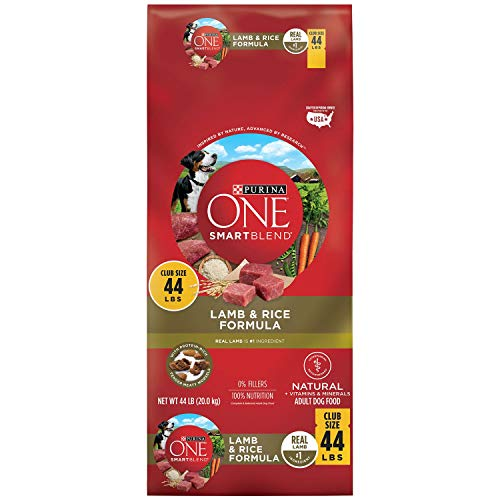 Purina ONE Smartblend Natural Lamb & Rice Formula Adult Dry Dog Food (44 Lbs.), 44 Lb