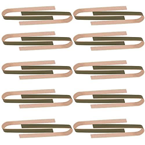 MEETOZ 80 pinzas de bambú, pinzas desechables de bambú de 4 pulgadas para tostadora, mini pinzas desechables de bambú de color verde natural para cocinar tostadas, pan, encurtidos y suministros de té