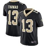 Maillot de football américain Michael Thomas Nouvelle-Orléans Saints #13, brodé d'entraînement rugby Maillot adulte T-shirt de sport manches courtes, 123, Noir , M(175~180)