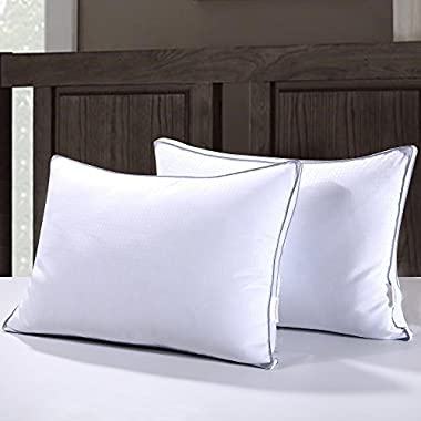 Homelike Moment Down Feather Pillow for Sleeping Queen Bed Pillows Standard Queen Size Pillow Set of 2 Gusseted