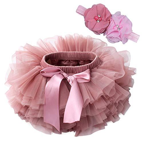 Happy Cherry Falda de Tutú con Cinta de Pelo de Flores para...