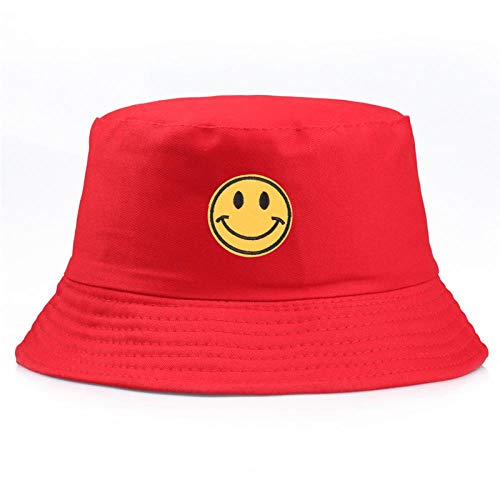 Bucket Hat Chapeau Coton Anti Lettre Seau Chapeau Pêcheur Voyage en Plein Air Chapeau Chapeau De Soleil Chapeaux pour Hommes Et Femmes Soleil Protecteur Chapeau 56-58 Cm Rouge