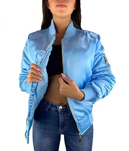 Worldclassca Damen Bomber Jacke ÜBERGANGSJACKE FREIZET Bomberjacke Jacket Blouson Piloten Ladies Herbst Winter GEFÜTTERT Basic...