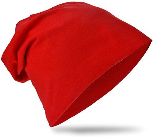 Baby Kinder Jersey Slouch Beanie Long Mütze Unifarbe Unisex Baumwolle Trend S
