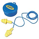 3M E-A-R ULTRAFIT EARPLUGS 340-4002, CORDED, CARRYING CASE, 200 PAIR/CASE