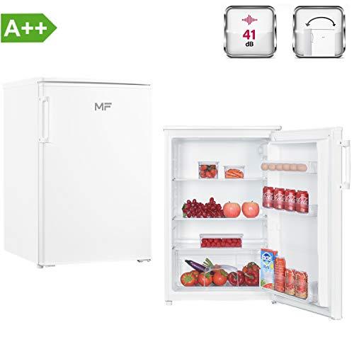 MF KS1130A2WH Kühlschrank A++ Freistehend, 85 cm Höhe, Tischkühlschrank einen Nutzinhalt von 132 Litern, LED Licht, sehr niedriger Energieverbrauch, Vollraumkühlschrank, B550 x T580 x H850 mm, Weiß