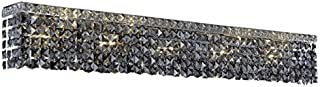 Chantal Chrome Contemporary 10-Light Vanity Fixture Heirloom Handcut Crystal in Silver Shade (Grey)-1729W44C-SS-RC--44