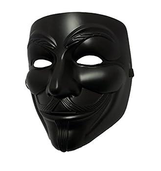 MGPS Black Guy Fawkes Anonymous V for Vendetta Halloween Costume Mask