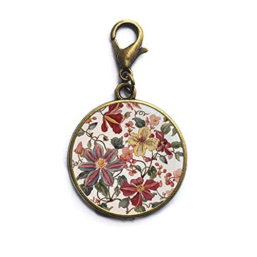 Yoga cremallera Pull vidrio cabujón budista langosta corchete arte mandala flor alta calidad cremallera tire para mujeres joyería-#251