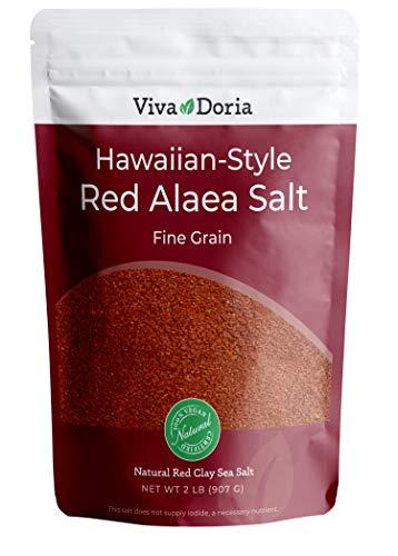 Viva Doria Hawaiian Red Alaea Sea Salt, Fine Grain,