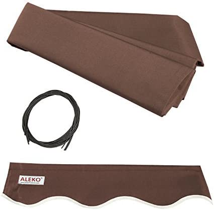 Limited time trial price ALEKO FAB10X8BROWN36 Retractable Awning 10 x Rapid rise Fabric Replacement