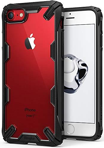 Ringke Fusion-X Compatibile con Cover iPhone SE 2020, iPhone 8 e iPhone 7 Custodia Antiurto Protettiva Paraurti - Black Nero