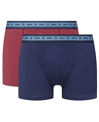 Dim Boxershorts aus elastischer Bio-Baumwolle, 2 Stück, Blau XXL