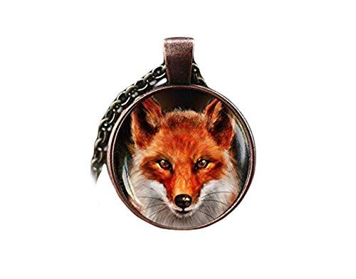 Rotfuchs-Halskette, Fuchs-Anhänger, Vixen-Wildtier-Schmuck, Fuchs-Kunst-Schmuck, Waldland, Rotfuchs, Natur-Anhänger, ein schönes Geschenk.
