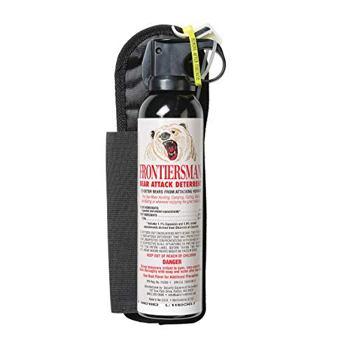 SABRE Frontiersman Bear Spray 9.2 oz (Holster Options & Multi-Pack Options) Maximum Strength & Larger Protective Barrier!