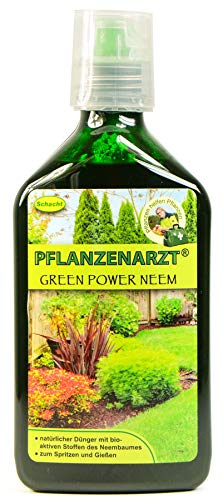 PFLANZENARZT® Green Power Neem Konzentrat, Organisch-mineralischer NPK-Flüssigdünger mit Eisen, 350ml