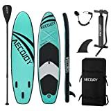 AECOJOY 10'6×32'×6' Inflatable Stand Up Paddle Board for All Skill Level, Surf Board with Adjustable Paddle, Non-Slip Deck Bonus Waterproof Bag, Leash, Paddle, Hand Pump & Backpack