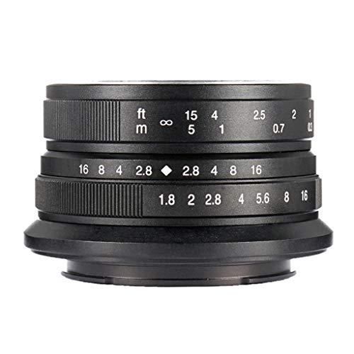 Almencla Lente de Gran Angular F1.8 de 25 mm, Objetivo para Canon EF-M
