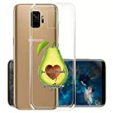 [OptiCase] - Clear Transparent Case for Galaxy S9 - Avocado Fruit Design Printed Unique Pattern Back Cover