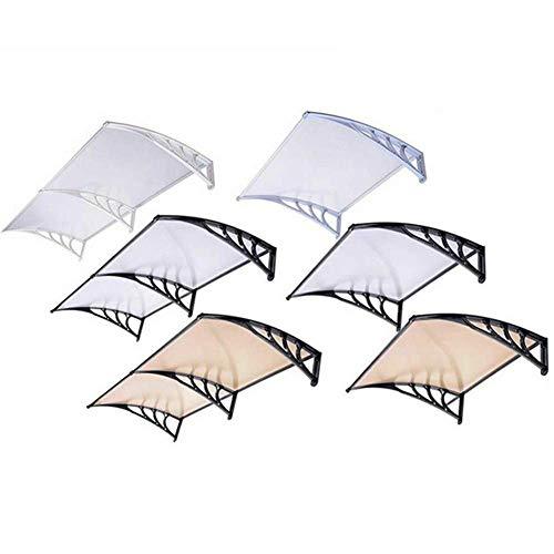 Toldo de la Puerta Toldo Balcón Aire Acondicionado PC Protección contra la Lluvia Puerta Protector Solar Soporte de aleación de Aluminio Silent Rain se Puede Personalizar (Color: T