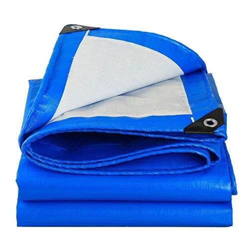 WTT Cover voor resistente zeildoek, luifel voor luifel, waterdicht, ideaal voor luifels, afdekking voor boten, camper of zwembad (kleur: blauw, afmetingen: 2mx3m (6.5ftx10ft))