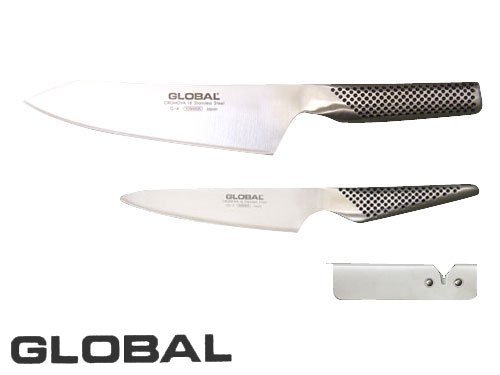 グローバル 文化3点セット (文化包丁 ペティナイフ スピードシャープナー) GST-4
