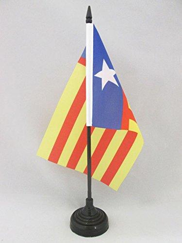 AZ FLAG Bandera de Mesa de la Comunidad Valenciana INDEPENDENTISTA 21x14cm - BANDERINA de DESPACHO REGIONALISMO Valenciano - SENYERA Valencia 14 x 21 cm
