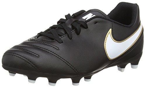 Nike Tiempo Rio III FG, Botas de fútbol Unisex Niños, Negro (Black/White),...