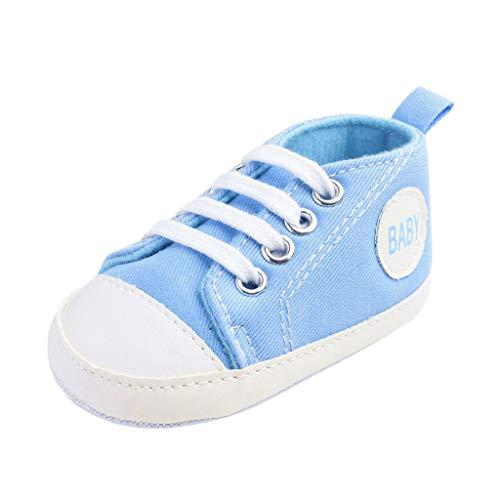 Alwayswin Baby Canvas-Turnschuhe Säuglingsbaby Mädchen Jungen Sneaker rutschfeste Kleinkindschuhe Volltonfarbe Freizeitschuhe Sportschuhe Turnschuhe Babyschuhe