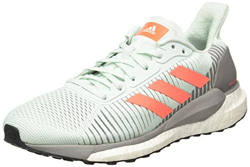 Adidas Solar Glide ST 19 W, Zapatillas Running Mujer, Azul Dash Green Signal Coral Dove Grey, 38 2/3 EU