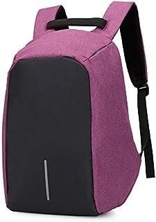 حقيبة كمبيوتر محمول مضاد للسرقة حقيبة كمبيوتر محمول سعة كبيرة للماء مع منفذ شحن USB - أرجواني