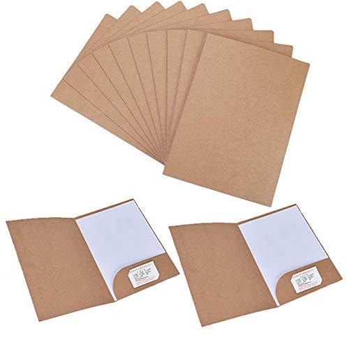 Carpeta de papel kraft, 12 piezas carpeta de documentos a4, carpeta para archivador, carpeta kraft a4 para llevar documentos, presentaciones, contratos o informes, color marrón