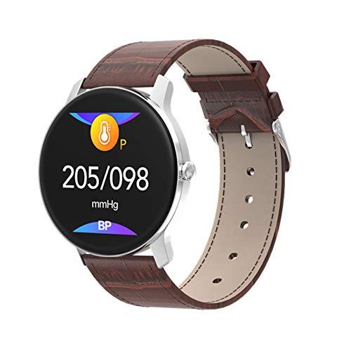 Reloj inteligente con pantalla HD para Android IOS IP67, reloj inteligente a prueba de agua, frecuencia cardíaca, monitorización de la presión arterial, rastreador de ejercicios, pulsera depo(Color:B)