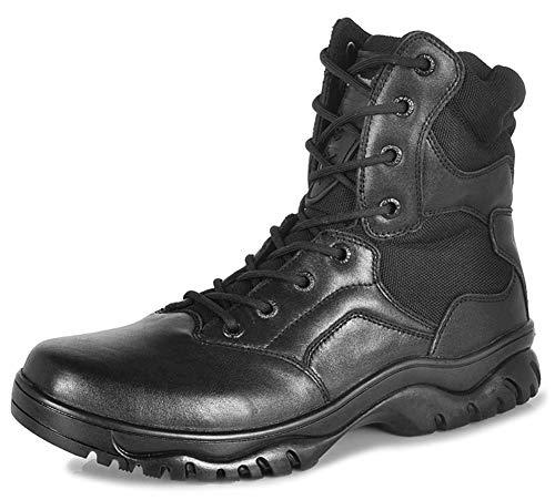 Tactiques pour Hommes Chaussures de randonnée et de Trekking Recrues Sécurité Militaire Bottes de Travail en Plein air pour-noir-38EU