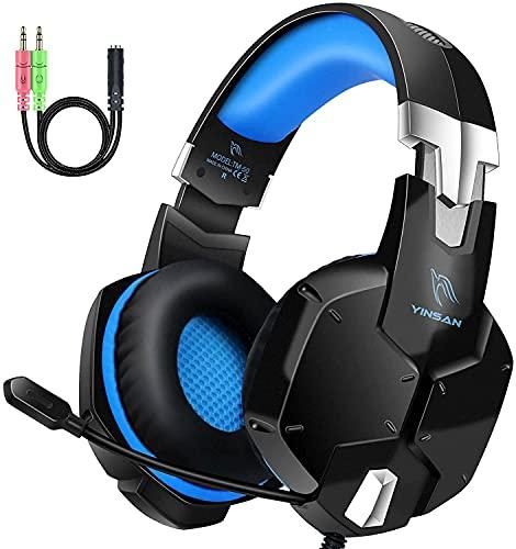 Auriculares Gaming PS4, Cascos Gaming con Micrófono, 3D Sonido y Reducción de Ruido, Jack 3,5mm, Control de Radio, PC/Mac/Xbox One/Nintendo Switch ⭐