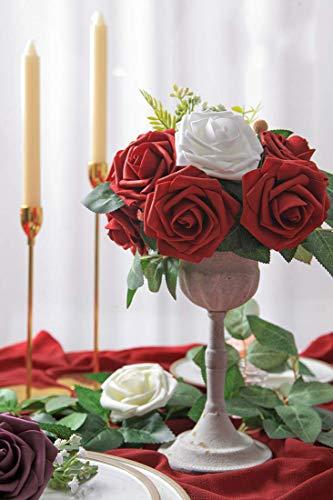 Msrlassn Flores Rosas Artificiales Espuma Rosa Falsa para Manualidades, Ramos de Novia, centros de Mesa, Despedidas de…