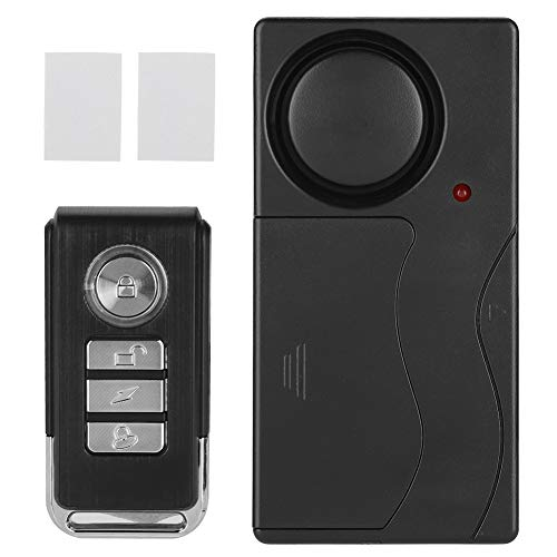 GAESHOW Alarma de vibración inalámbrica Control Remoto Alarma antirrobo de Seguridad para Puerta Ventana Alarma de Control de Bicicleta