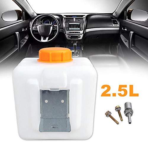 rosemaryrose 2.5L Kunststoff Standheizung Kraftstofftank mit Öldüsenadapter + Metallblech + Schraubensatz für Webasto- Eberspacher Autoheizungen