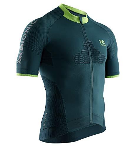 X-Bionic Invent Bike Race Zip Shirt Short Sleeve Men, Uomo, Pine Green/Amazonas Green, L