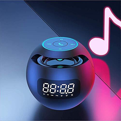ZONJIE Sveglia Digitale con Altoparlante Bluetooth, Sveglie da Comodino Ricaricabile USB con Bluetooth 5.0 Audio Box FM Hi-Fi, Supporta TF Card, per Smartphone e Tablet Pc