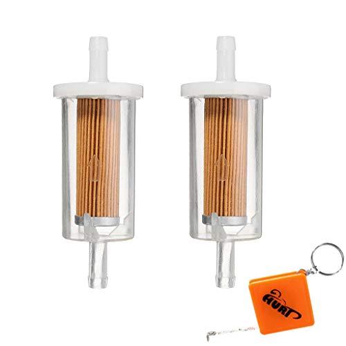 HURI 2pcs 1/4' 695666 Fuel Filter for Briggs & Stratton 845125 691035 5065...