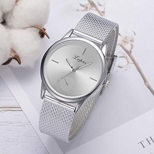 Uhren Lvpai Damen Einfache Quarz-Mesh-Gurt-Uhr (Silber) Asun (Color : Silver)