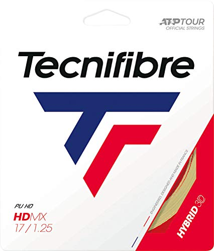 Tecnifibre HDMX 12m Saitenset-Gelb Tennissaite, 1.35