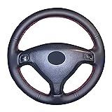 JHDS Funda Volante Coche Cubierta De Dirección De Cuero Artificial para Opel Astra G 1998-2007 para Zafira A 1999-2005 para Chevrolet Sail 2003 Funda Volante Coche Funda
