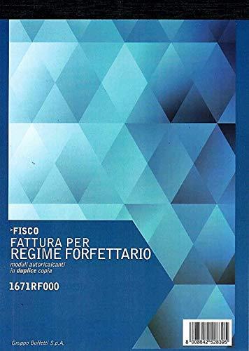FATTURA PER REGIME FORFETTARIO 15X21 DUPLICE COPIA 1671RF000