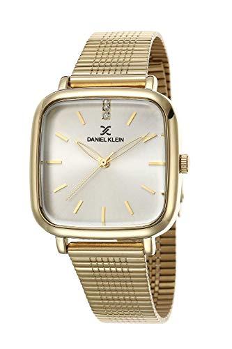 Daniel Klein Reloj de pulsera cuadrado para mujer (DK12481) – Correa de malla – 31 mm analógico...