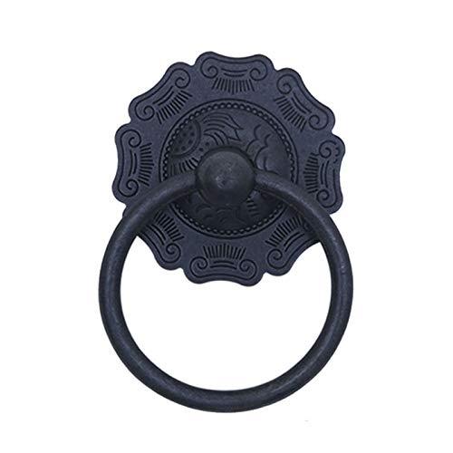 Suministro del renovador de decoración de pared Golpeador de puerta de latón antiguo, mango de armario pequeño / anillo de tirón redondo clásico / con anillo de interruptor de guardarropa ligero, para