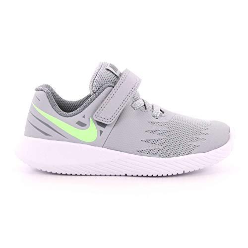 Nike Star Runner (TDV), Scarpe da Campo e da Pista Bambino, Grigio/Lime/Grigio Freddo (Wolf Grey/Lime Blast/Cool Grey 008), 23.5 EU
